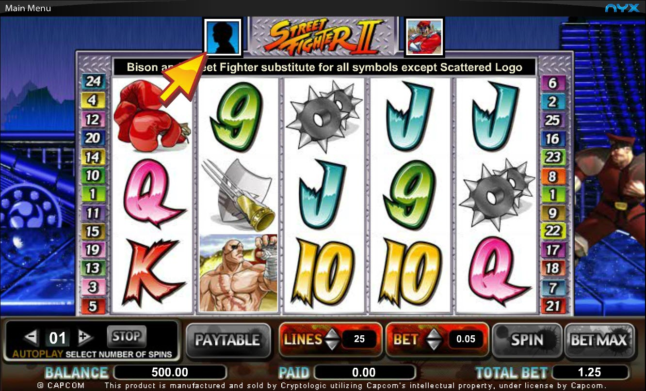 Street Fighter Online Slots